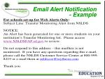 email alert notification example