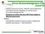 error acknowledgment file cont d25