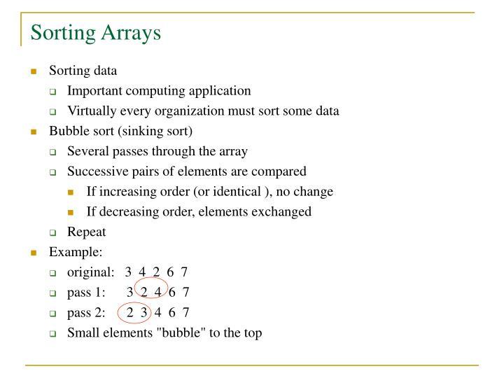 Sorting Arrays