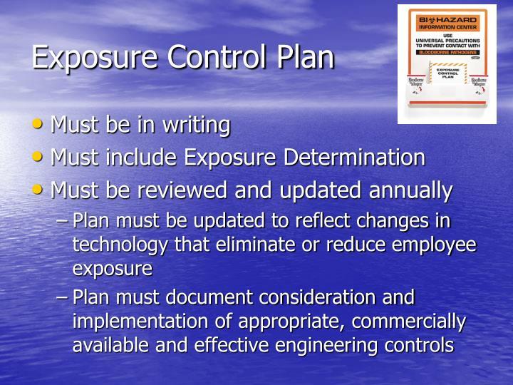 Exposure Control Plan