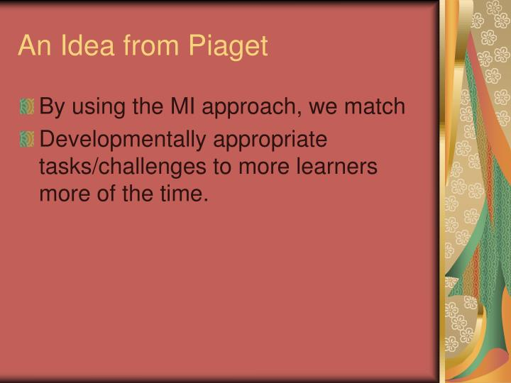 An Idea from Piaget