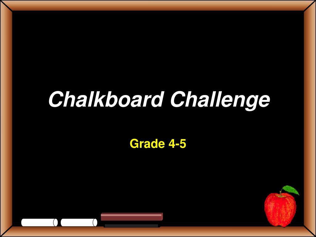 chalkboard challenge l.