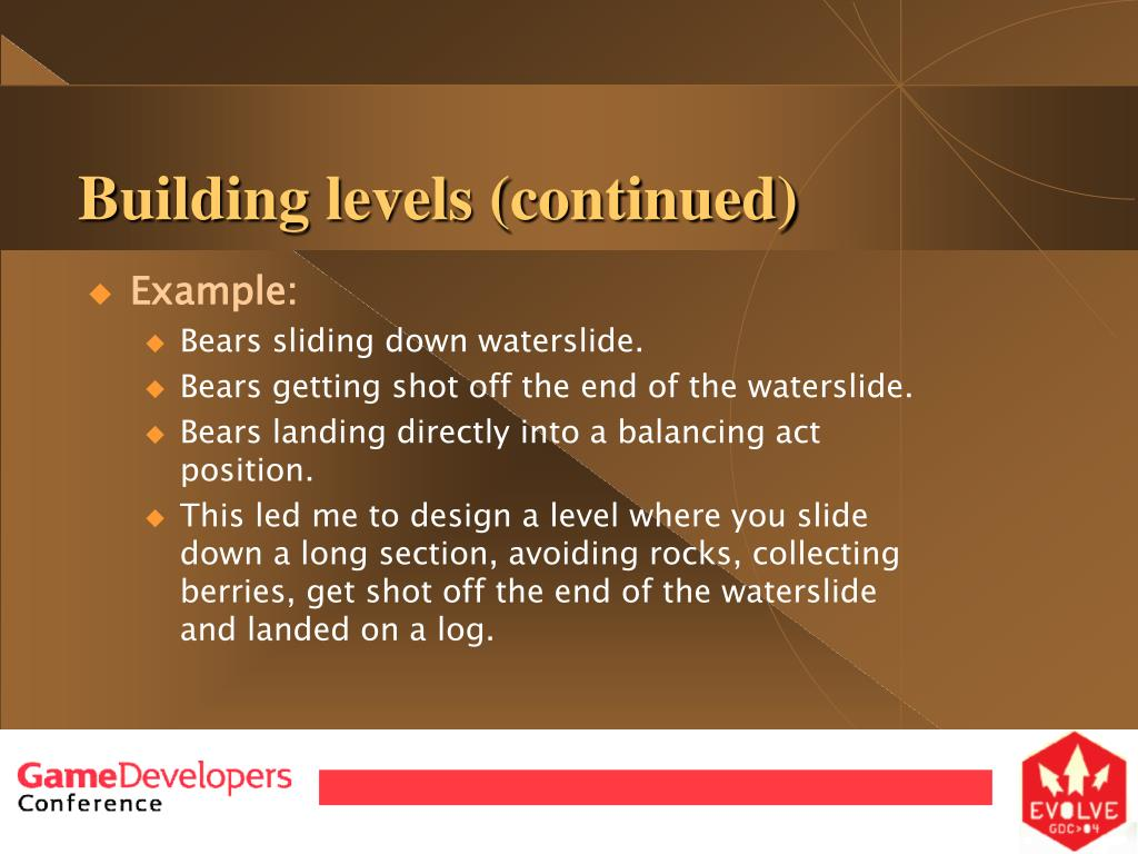 Building levels (continued)