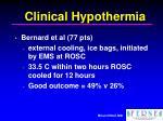 clinical hypothermia