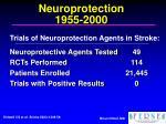 neuroprotection 1955 2000
