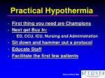 practical hypothermia