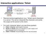 interactive applications telnet