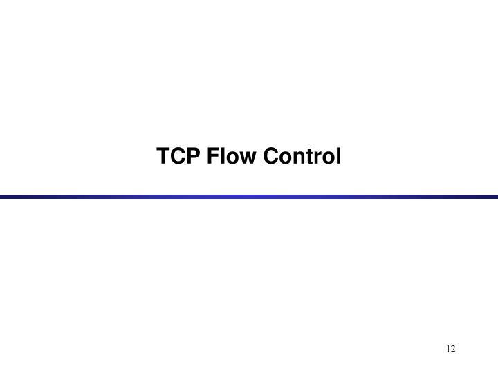 TCP Flow Control