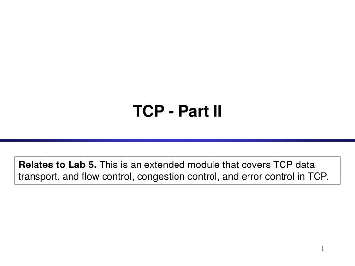 tcp part ii n.