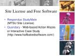 site license and free software