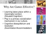 why are games effective