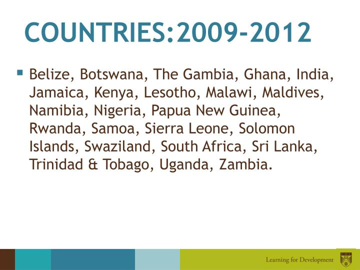 COUNTRIES:2009-2012