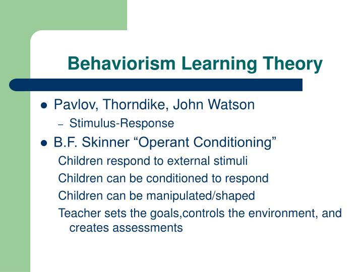 cyp 3 1 theorists john watson behaviurism