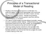 principles of a transactional model of reading