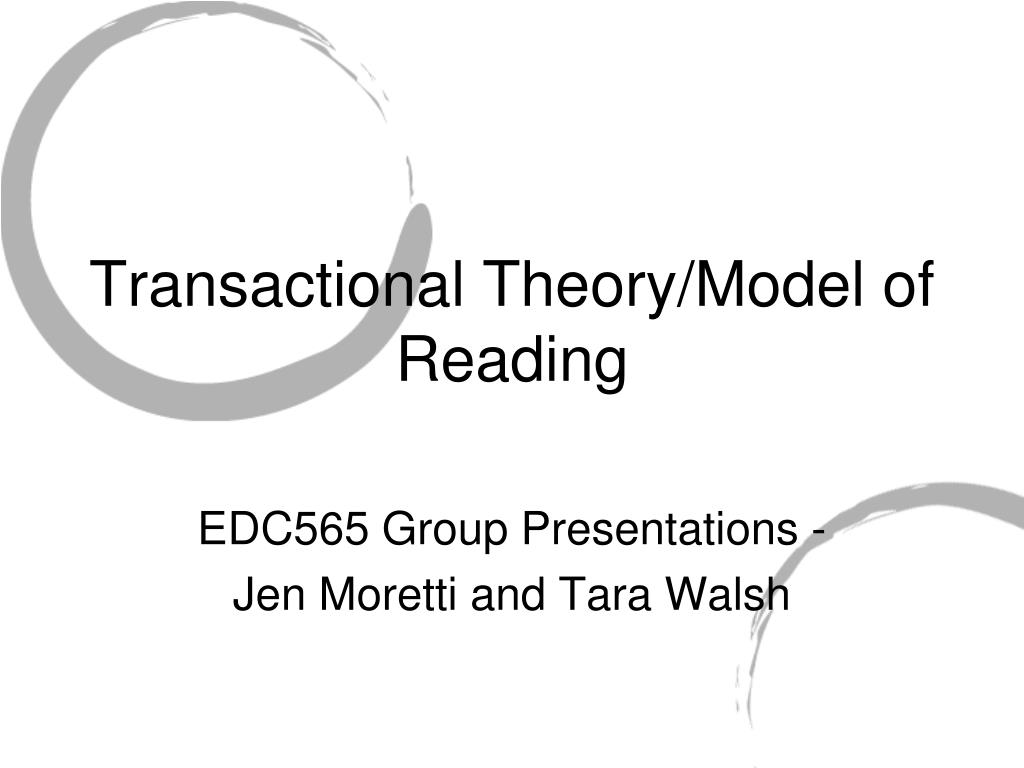 transactional theory model of reading l.