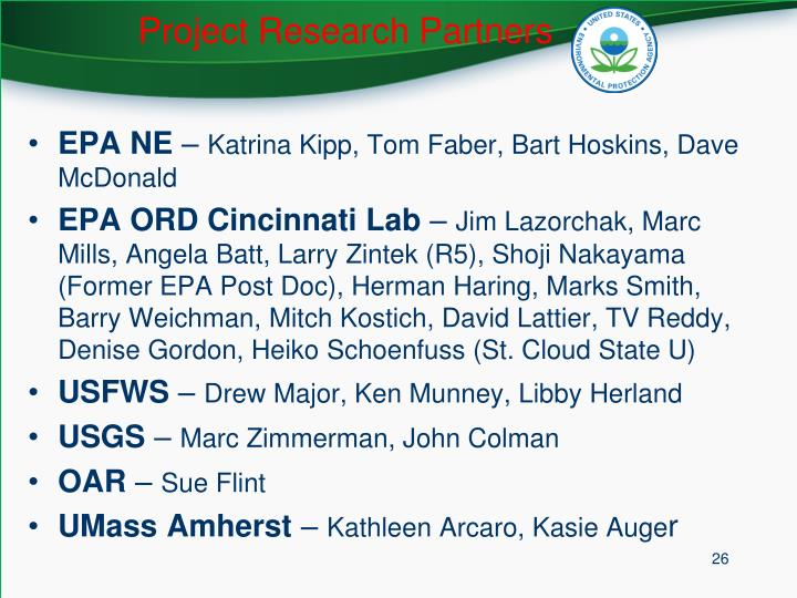 Project Research Partners