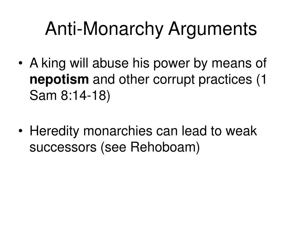 Anti-Monarchy Arguments