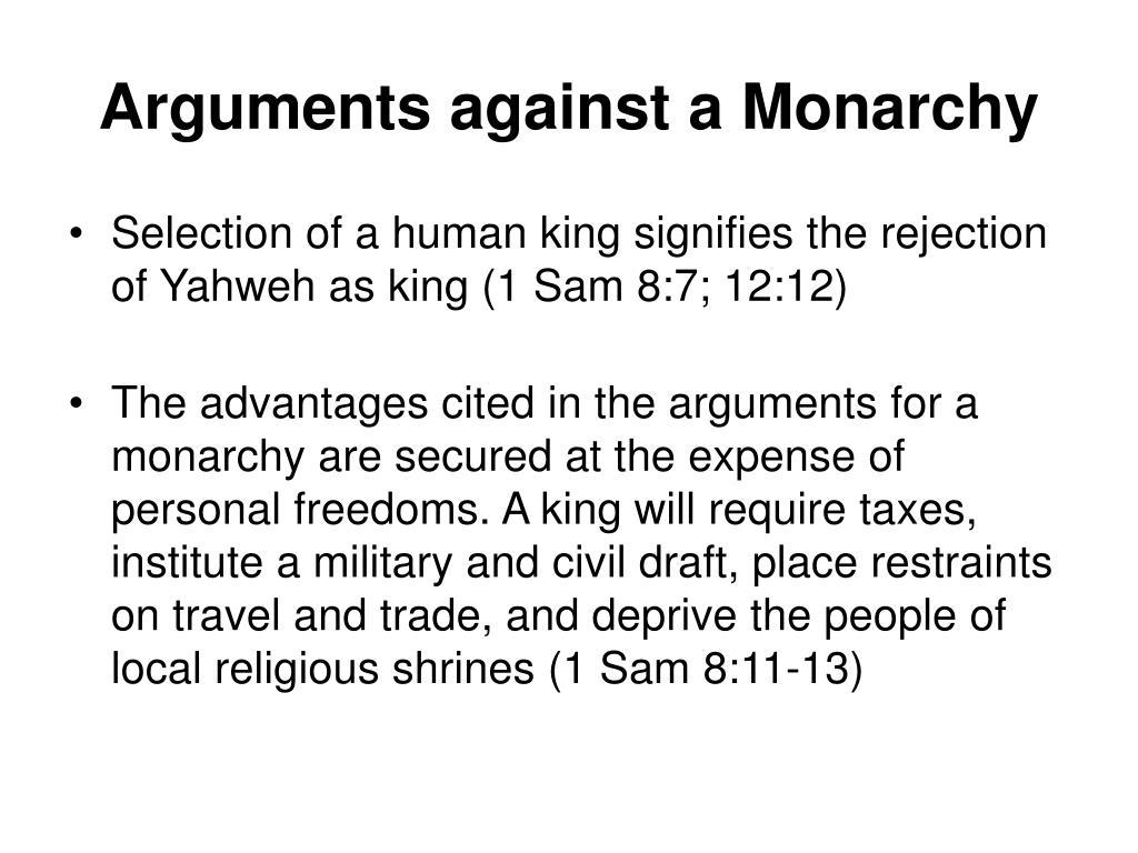 Arguments against a Monarchy