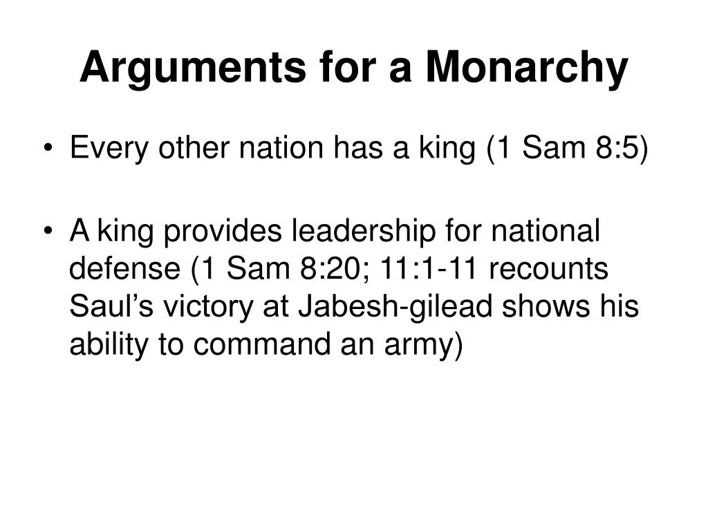 Arguments for a Monarchy
