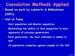 coevolution methods applied