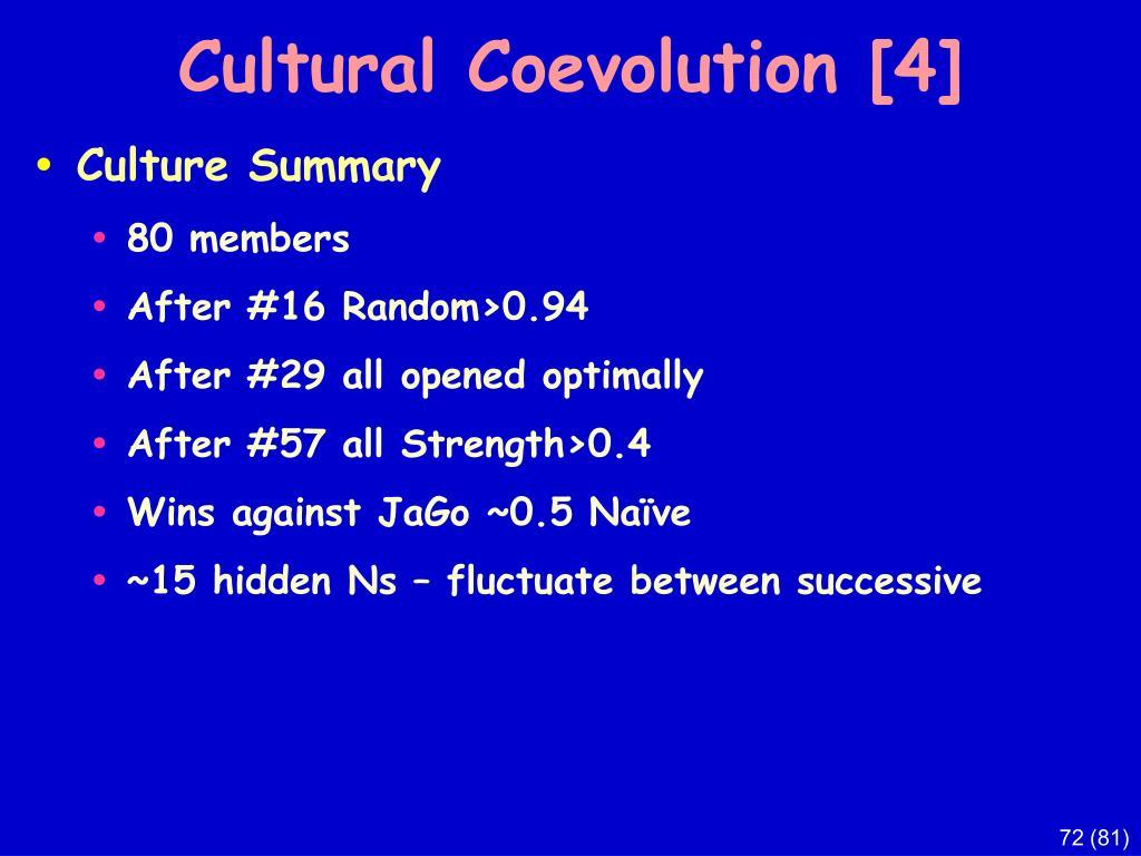 Cultural Coevolution [4]