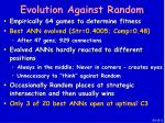evolution against random