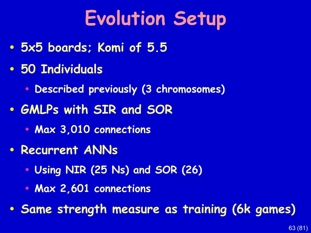 Evolution Setup