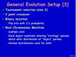 general evolution setup 3