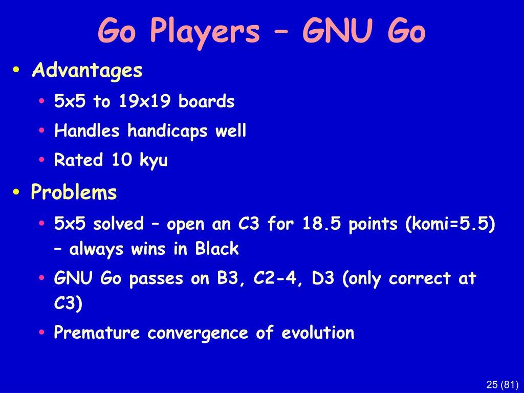 Go Players – GNU Go