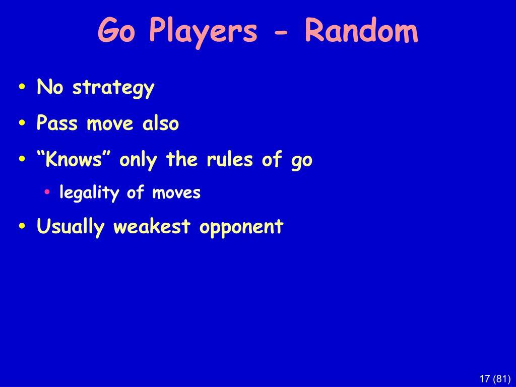 Go Players - Random