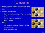go rules 5