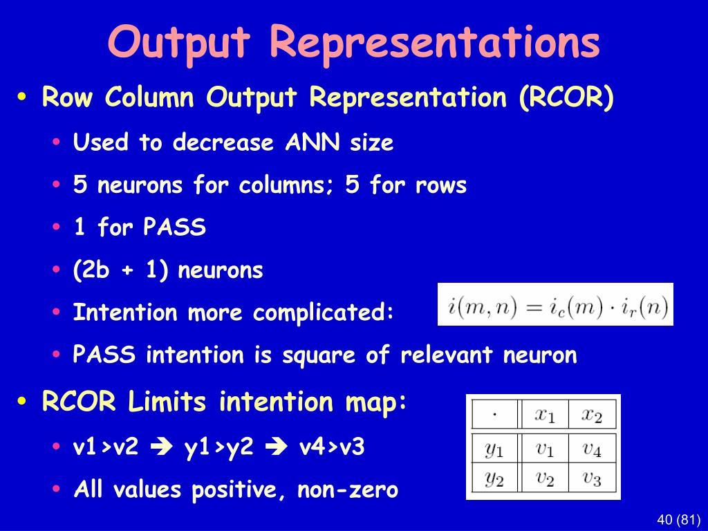 Output Representations