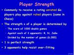 player strength