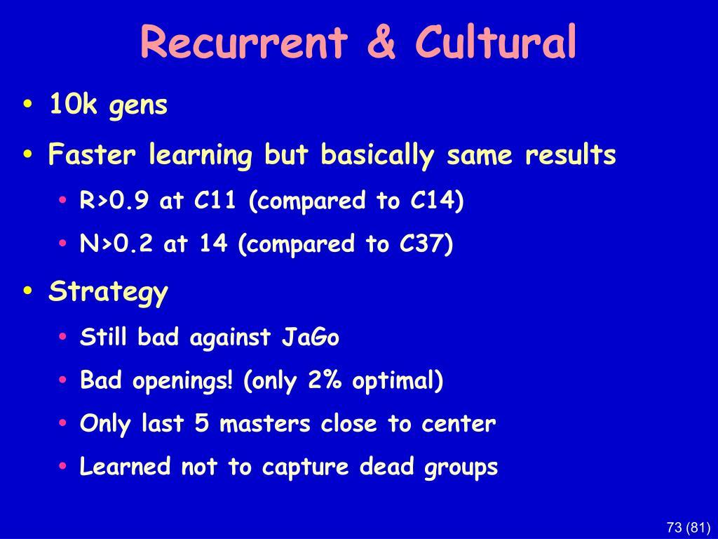 Recurrent & Cultural