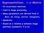 representations c o matrix