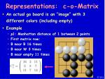 representations c o matrix37