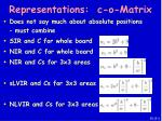 representations c o matrix38