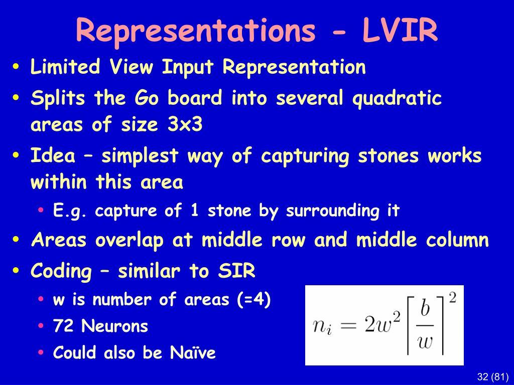 Representations - LVIR