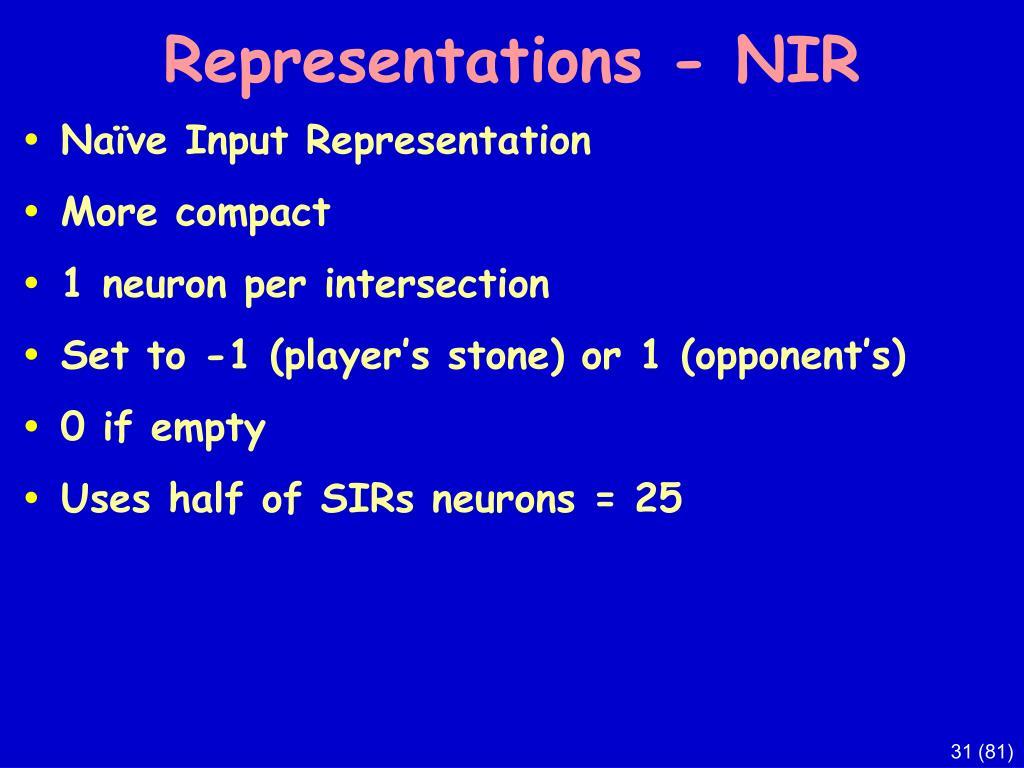 Representations - NIR