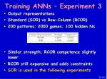 training anns experiment 3