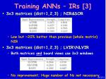 training anns irs 3