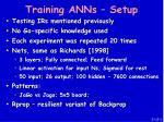 training anns setup
