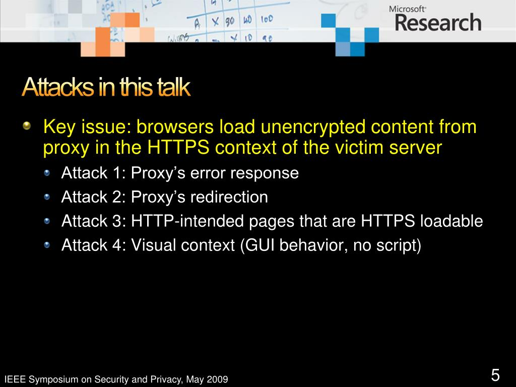 Attacks in this talk