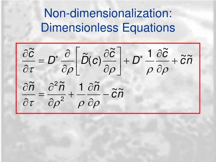 Non-dimensionalization: