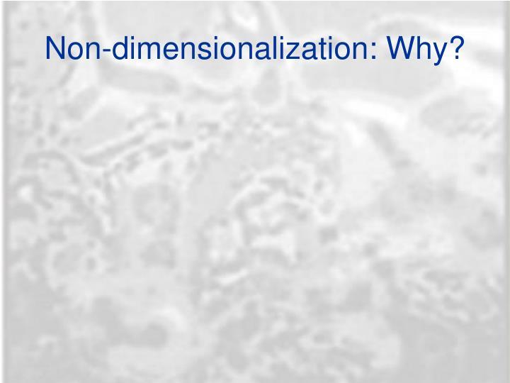 Non-dimensionalization: Why?
