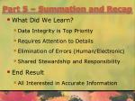 part 5 summation and recap1