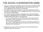 the social coordination game