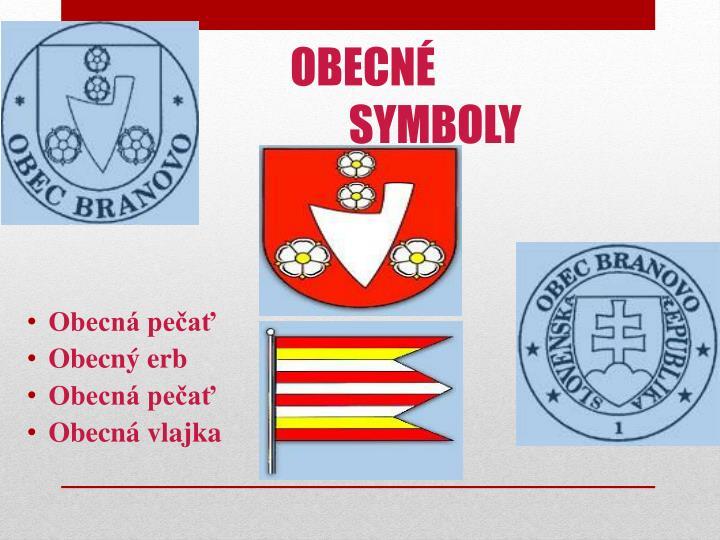 Obecn symboly