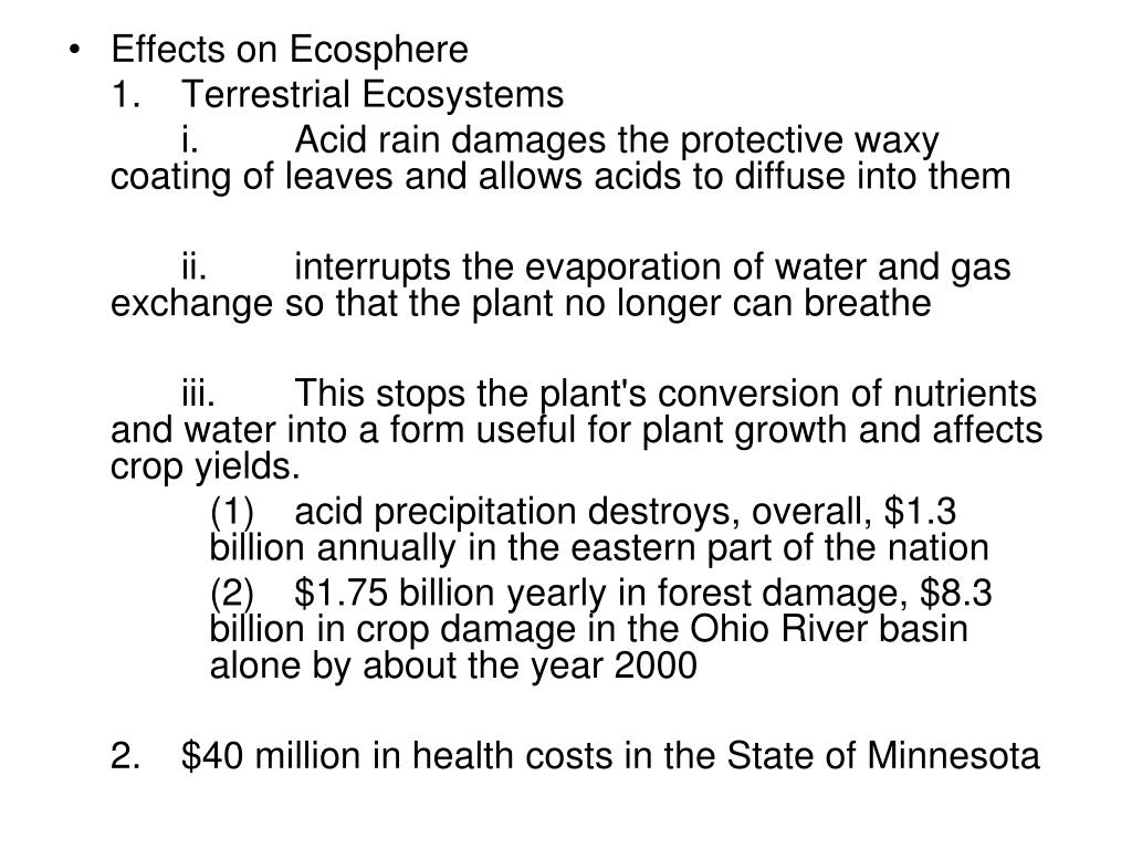 Effects on Ecosphere
