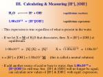 iii calculating measuring h oh18